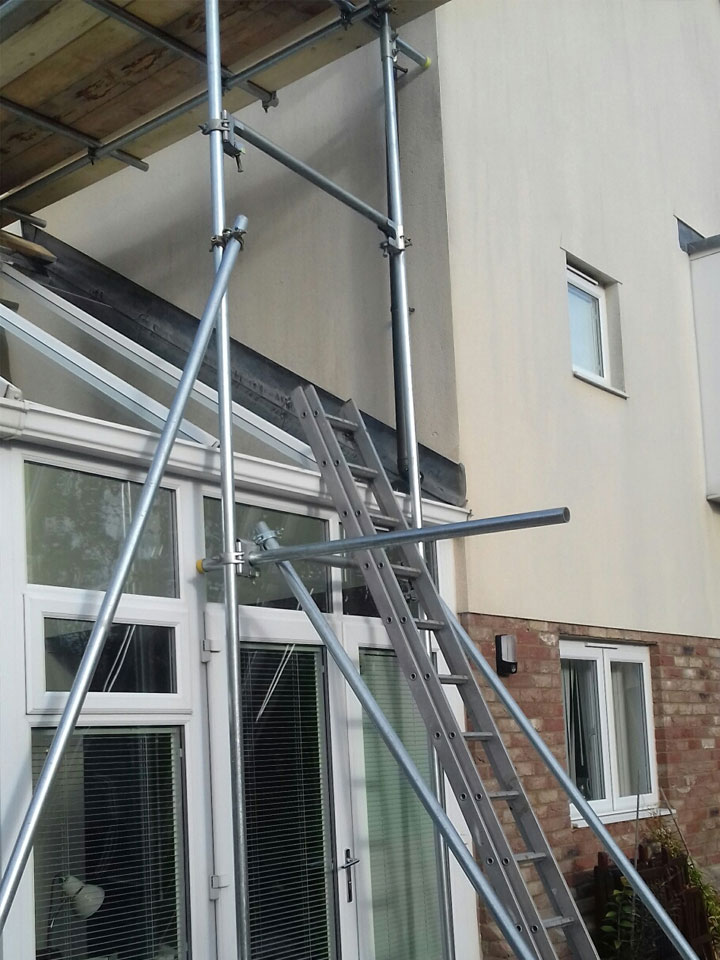 Scaffolding for Conservatory