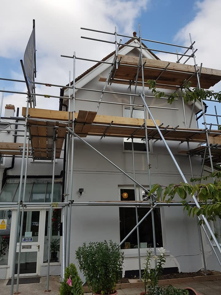 Care Home Painter Scaffolding