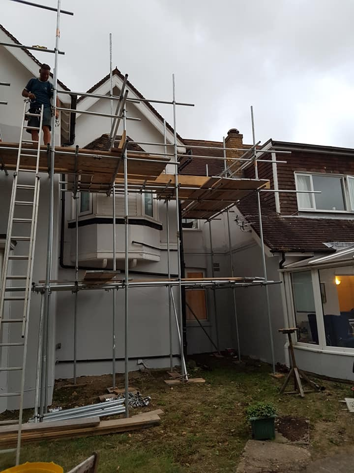 Scaffold Contractors Working