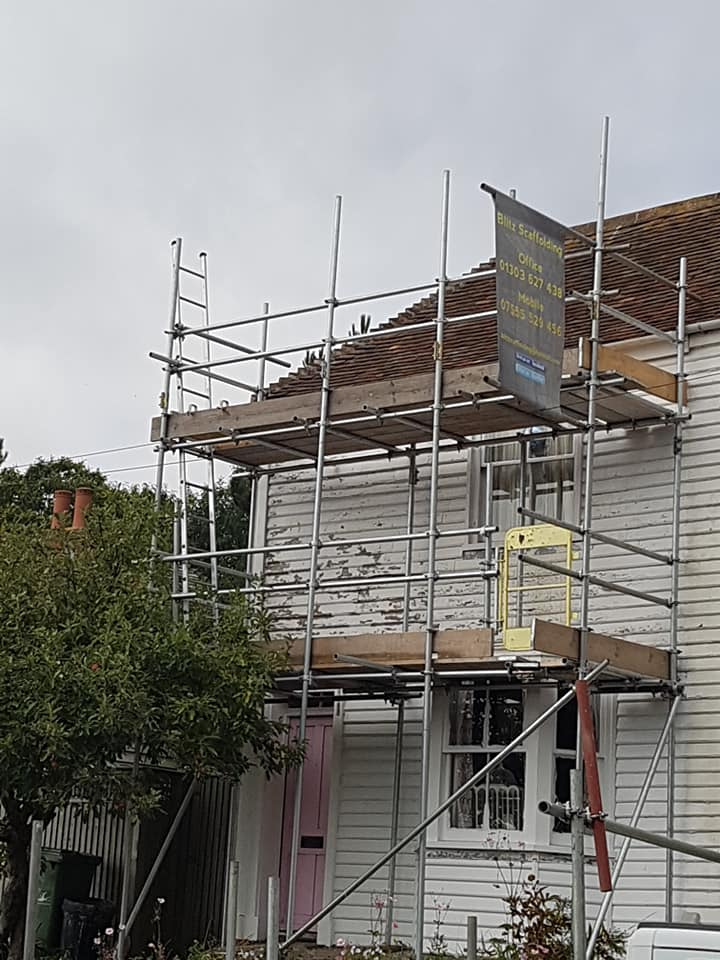 Old House Scaffolding