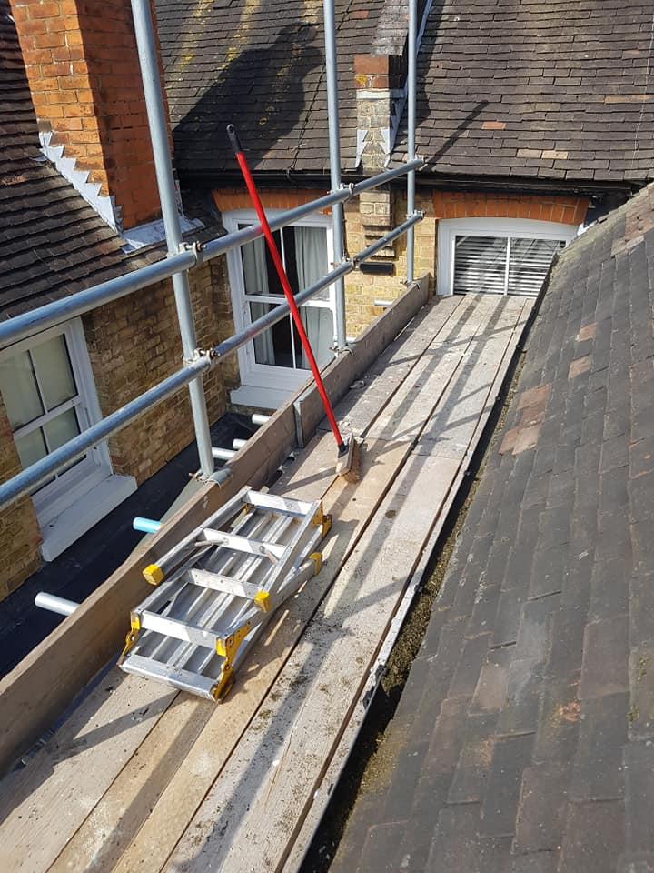 Beam Platform over Garage