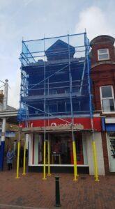 Scaffolding on Sittingbourne High Street