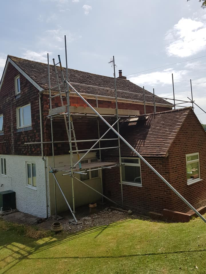 Scaffolding at Rear of House