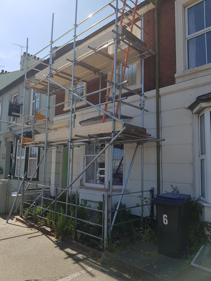 Front House with Scaffolding